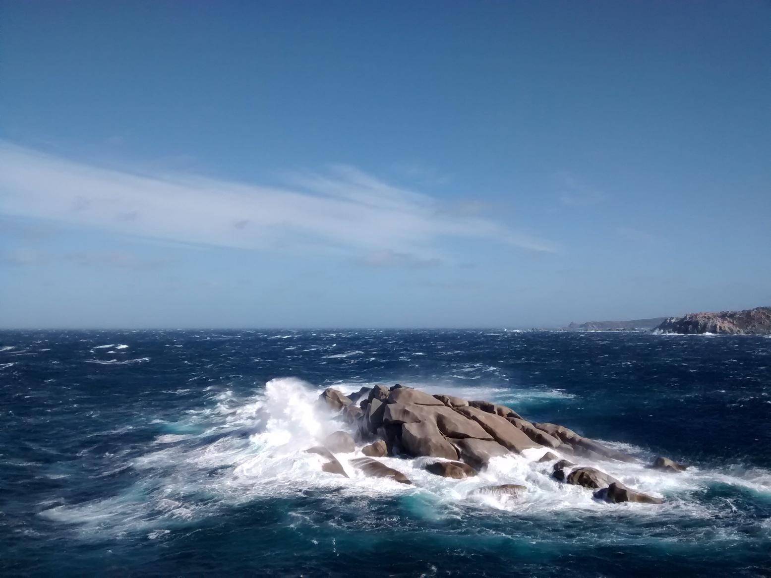 Les vagues faisaient au moins 5m!